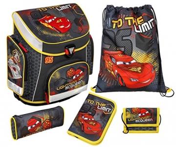 Schulranzenset Disney Cars 6-teilig Farben schwarz, rot, gelb