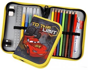 Befülltes Federmäppchen Disney Cars, Farben schwarz, rot, gelb
