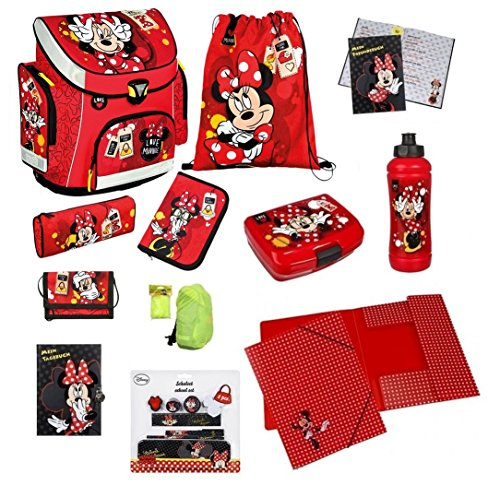 Disney Minnie Maus Schulranzen Set 12tlg Scooli Campus Federmappe Tagebuch