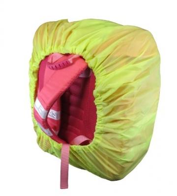 Bonetti Schulranzen Regenüberzug aus Polyester mit Reflektor-Smiley,...